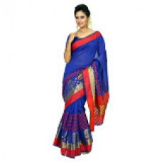 Deals, Discounts & Offers on Women Clothing - Flat 65% off on Panaah Adhya Cotton Silk Jacquard Saree