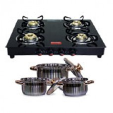 ShopCJ Offers and Deals Online - Flat 44% off on Prestige 4 Bur  Induction Base Cookware