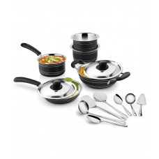 Deals, Discounts & Offers on Home & Kitchen - Flat 59% off on Ideale Enamle  Black Cookware Set