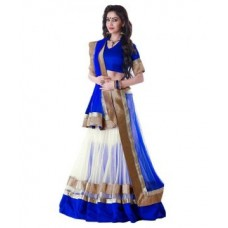 Deals, Discounts & Offers on Women Clothing - Flat 50% off on Triveni Classy Off  Border Worked Net Lehenga Choli