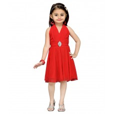 Deals, Discounts & Offers on Kid's Clothing - Flat 62% off on Aarika Red Net Frock