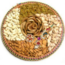Deals, Discounts & Offers on Home Decor & Festive Needs - Flat 30% off on Panch Bhog Dry Fruits Rakhi Hamper