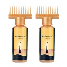 Deals, Discounts & Offers on Health & Personal Care - Indulekha Bringha Selfie Bottle Hair Oil 100 ml each Pack-of-2 at 20% offer