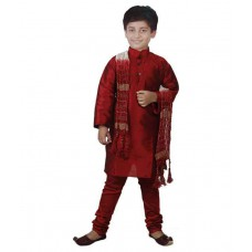 Deals, Discounts & Offers on Men Clothing - JBN Creation Maroon Kurta Pajama For Boys at 55% offer