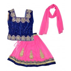 Deals, Discounts & Offers on Baby & Kids - Kid's Stop Multicolour Lehenga Choli with Dupatta at 77% offer