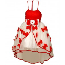 Deals, Discounts & Offers on Baby & Kids - Saba Garments White and Red Gown at 70% offer