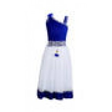 Deals, Discounts & Offers on Baby & Kids - Crazeis Blue And White Net Party Wear Dress at 88% offer