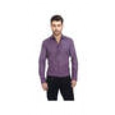 Deals, Discounts & Offers on Men Clothing - Basics Purple Cotton Slim Fit Casual Shirt at 20% offer