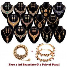 Deals, Discounts & Offers on Women - Exotic 14 Gold Plated Jewellery Collection with 1 Kada 1 Pair Payal Free at 90% offer