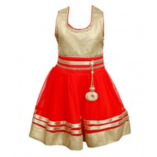 Deals, Discounts & Offers on Baby & Kids - Ishika Garments Red Frock at 44% offer