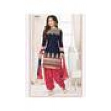 Deals, Discounts & Offers on Women Clothing - STYLE IN Blue Pink designer salwar suit at 86% offer