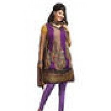 Deals, Discounts & Offers on Women Clothing - Mehak Purple Chiffon Jacquard Churidar Suit at 37% offer