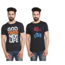 Deals, Discounts & Offers on Men Clothing - Stylogue Mens Casual Tshirt  at 61% offer