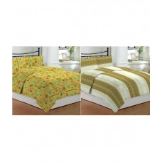Deals, Discounts & Offers on Home & Kitchen - Bombay Dyeing Double Cotton Contemporary Bed Sheet at 29% offer