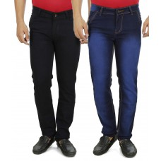 Deals, Discounts & Offers on Men Clothing - Copper Multi Slim Fit Jeans Pack of 2 at 68% offer
