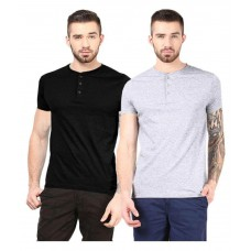 Deals, Discounts & Offers on Men Clothing - Gallop Multi Henley T Shirt Pack of 2 at 69% offer