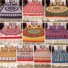 ShopCJ Offers and Deals Online - Rangilo Rajasthan Pack Of 10 Double Bedsheet Set