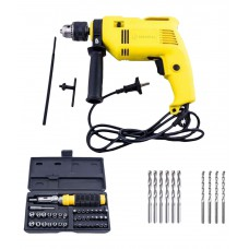 Deals, Discounts & Offers on Hand Tools - Buildskill BED2100 Impact Reversible 13mm Drill + BMS1100 41pcs Screwdriver + Bits