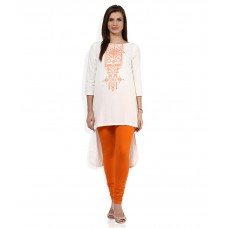 Deals, Discounts & Offers on Women Clothing - Global Desi White Solid Tunic