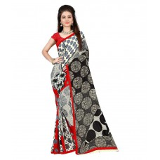 Deals, Discounts & Offers on Women Clothing - SV Multicoloured Georgette Saree