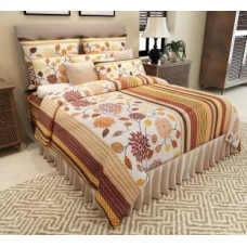 Deals, Discounts & Offers on Home Decor & Festive Needs - Home Candy Polycotton 3D Printed Double Bedsheet