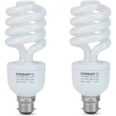 Deals, Discounts & Offers on Electronics - Eveready B22 CFL 27 W Bulb -Pack of 2