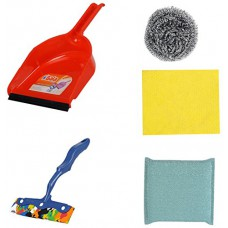Deals, Discounts & Offers on Home Appliances - Gala 5 Piece Dustpan with Steel Scrubber, Kitchen Moppy, Kitchen Scrubber and Kitchen Wipe Combo Set