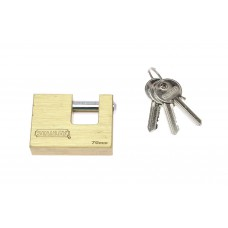 Deals, Discounts & Offers on Accessories - Stanley Solid Brass Standard Rectanguler Padlock - 70mm