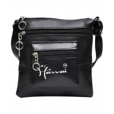 Deals, Discounts & Offers on Accessories - Hawai Black Faux Leather Sling Bag