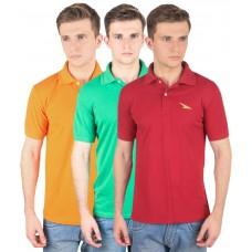 Deals, Discounts & Offers on Men Clothing - PRO Lapes Men's Polo T-Shirt Set of 3