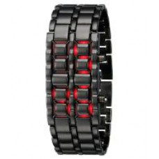Deals, Discounts & Offers on Men - SMC Black metallic LED watch
