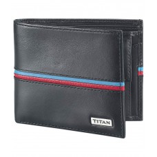 Deals, Discounts & Offers on Accessories - Titan Black Bifold Leather Casual Wallet