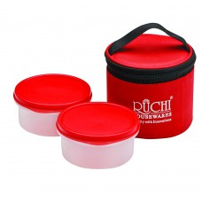 Deals, Discounts & Offers on Home Appliances - Ruchi Food Fresh Small Plastic Tiffin Box Set, 350ml, 3-Pieces
