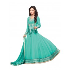 Deals, Discounts & Offers on Women Clothing - Vibes Women Georgette Salwar Suit Dress Material