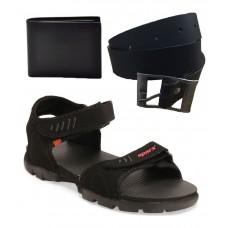 Deals, Discounts & Offers on Men - Flat 60% off on Sparx Black Floater Sandals