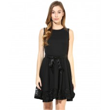 Deals, Discounts & Offers on Women Clothing - Flat 58% off on The Vanca Black Georgette Dresses