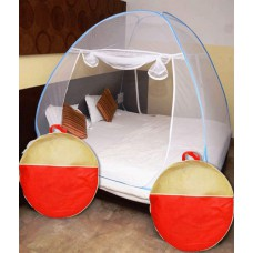 Deals, Discounts & Offers on Home Decor & Festive Needs - Athena Creations Blue Double Bed Foldable Mosquito Net at 61% offer