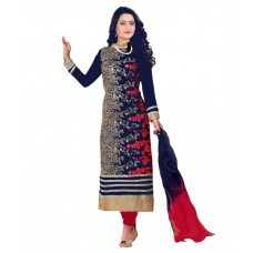 Deals, Discounts & Offers on Women Clothing - Gopi Fashion Georgette Pakistani Suits Semi Stitched Suit at 47% offer