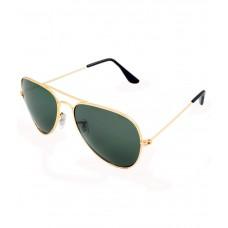 Deals, Discounts & Offers on Accessories - Golden Frame G15 Green Medium Unisex Aviator Sunglasses at 85% offer