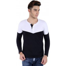 Deals, Discounts & Offers on Men Clothing - Bigidea Solid Men's Henley T-Shirt at 56% offer