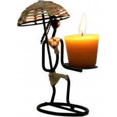 Deals, Discounts & Offers on Home Decor & Festive Needs - Aesthetic Decors Iron 1 - Cup Candle Holder at 51% offer