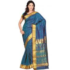 Deals, Discounts & Offers on Women Clothing - Flat 46% Offer on Varkala Silk Sarees Woven Kanjivaram Handloom Art Silk Sari