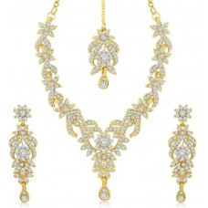 Deals, Discounts & Offers on Earings and Necklace - Flat 83% Offer on Sukkhi Zinc Jewel Set