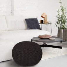 Deals, Discounts & Offers on Home Decor & Festive Needs - Flat 30% Offer on S9home by Seasons Contemporary Dark Blue Pouffe