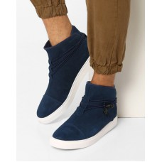 Deals, Discounts & Offers on Foot Wear - Faux Leather Sneakers With Cord Wrap