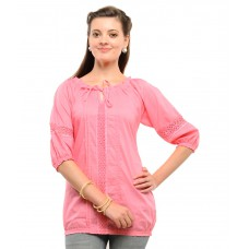 Deals, Discounts & Offers on Women Clothing - Flat 69% off on U&F Pink Cotton Tops