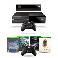 Deals, Discounts & Offers on Gaming - Microsoft Xbox One Console with Kinect with 1 Extra Wireless Controller and 4 Games