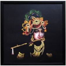 Deals, Discounts & Offers on Home Decor & Festive Needs - Krishna Playing Flute Fine Art Print at 60% offer