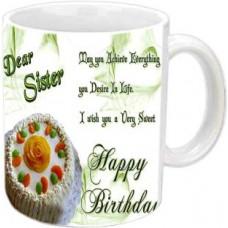 Deals, Discounts & Offers on Home Appliances - Flat 50% Offer on Jiya Creation1 Sister Love Cake Ceramic Mug