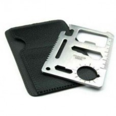 Deals, Discounts & Offers on Accessories - Flat 43% Offer on  Stainless Steel Multi Function Pocket Credit Card Size Tool Kit